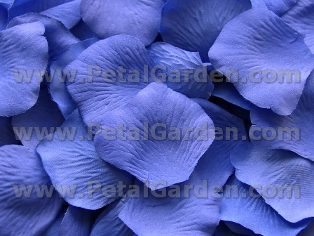Cornflower silk rose petals
