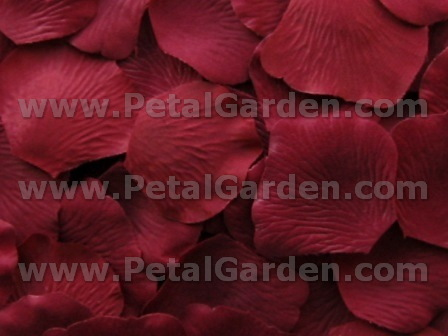 Crimson silk rose petals