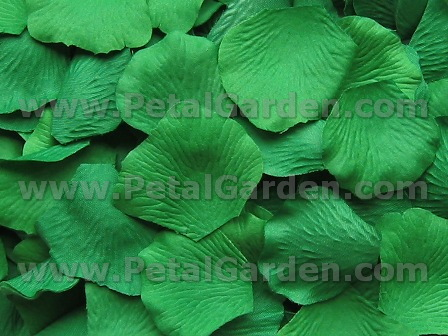 Jade silk rose petals