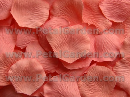 Melon silk rose petals