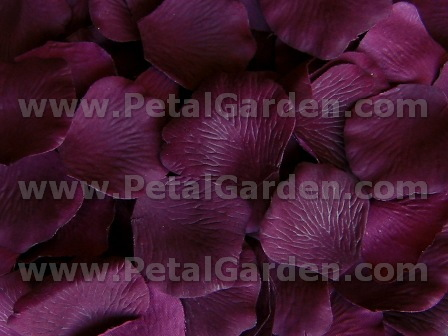 Plum silk rose petals