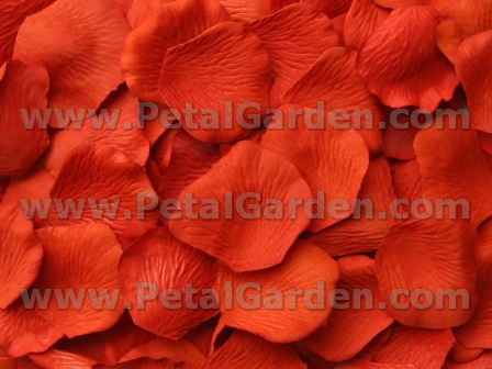 Poppy silk rose petals