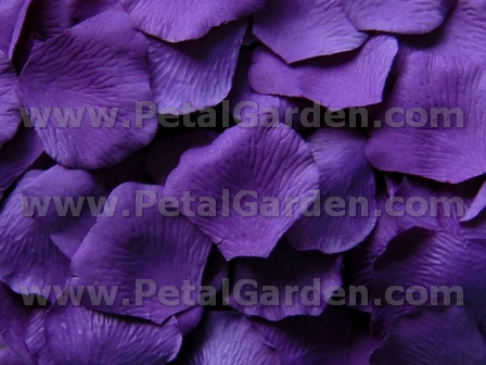 Purple silk rose petals
