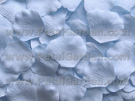 Sky Blue silk rose petals