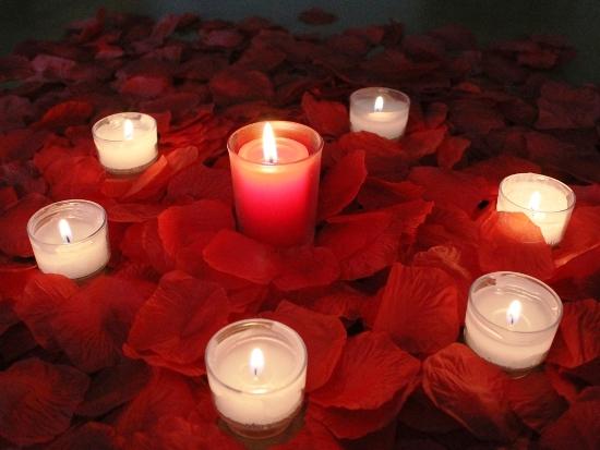 romance silk rose petals