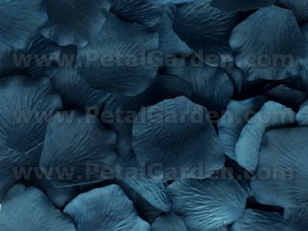 Denim silk rose petals
