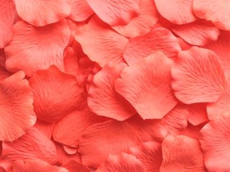 flamingo silk rose petals