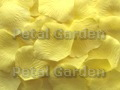 Pale Yellow Silk Rose Petals