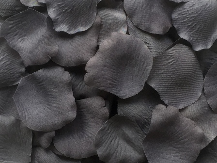 Pewter silk rose petals